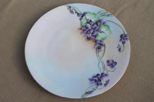 Vintage Hand Painted China Plates With Flowers Pretty Fl Dishes For Wedding Tea Party