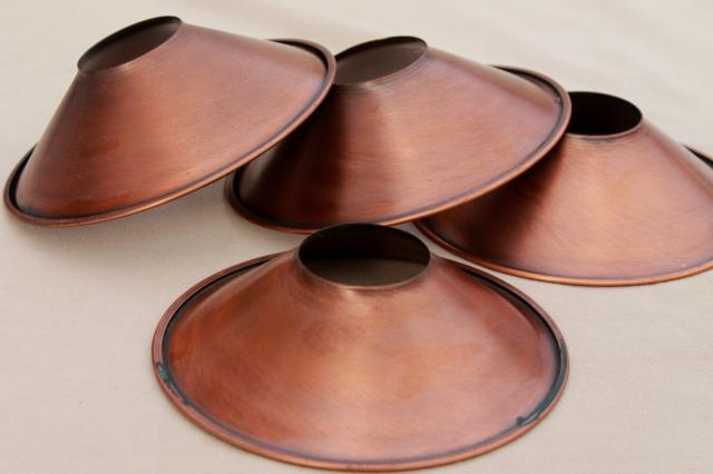 Vintage Hanging Lamp Chandelier Shades Copper Finish
