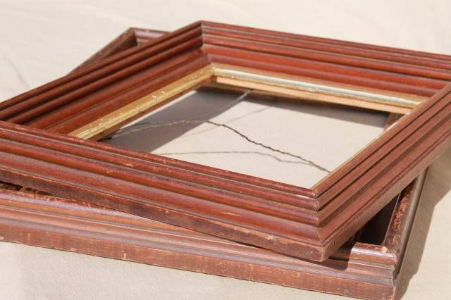 Vintage Hardwood Mirror Picture Frames For Architectural Moldings