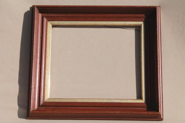 vintage hardwood mirror picture frames for architectural moldings empty frame lot - Empty Picture Frame