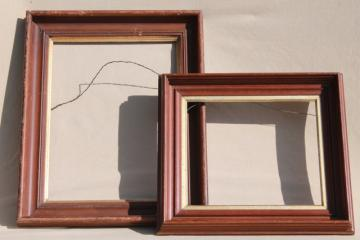 vintage hardwood mirror / picture frames for architectural moldings, empty frame lot