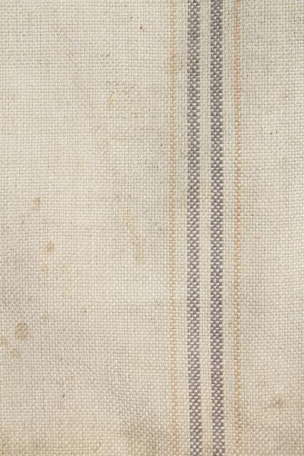 Vintage Heavy Cotton Grain Sack Striped Feed Bag