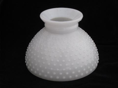 Vintage hobnail pattern milk white glass replacement student lamp shade aloadofball Choice Image