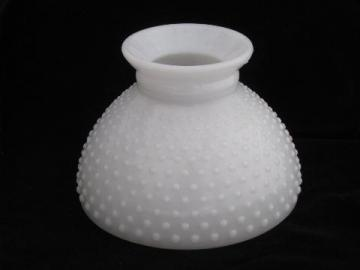 Vintage Hobnail Pattern Milk White Glass Replacement Student Lamp Shade