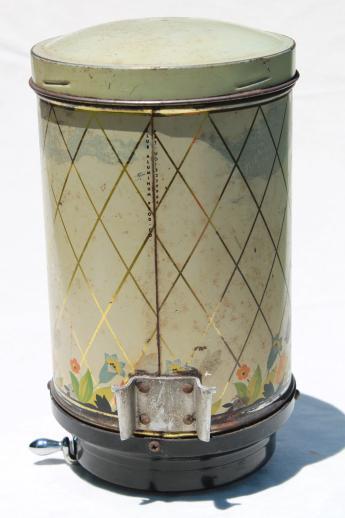 Vintage Hoosier Kitchen Cabinet Dispenser Can Coffee