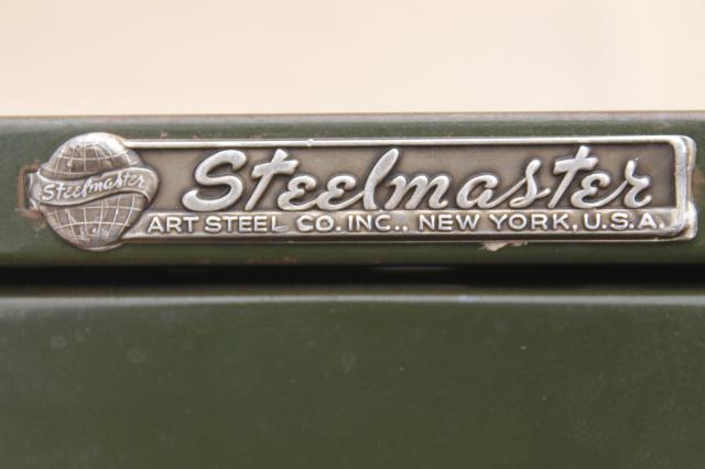 industrial Steel Master card file cabinets, office / library ...