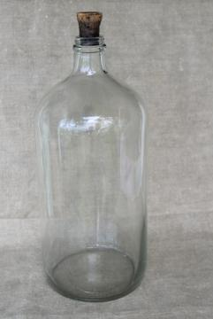 vintage industrial lab glass, huge pharmacy chemical bottle Duraglas gallon jar