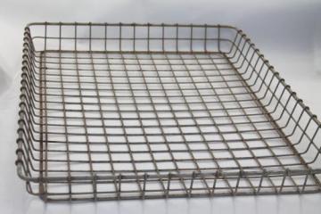 Vintage Storage Baskets Antique Egg Baskets Industrial