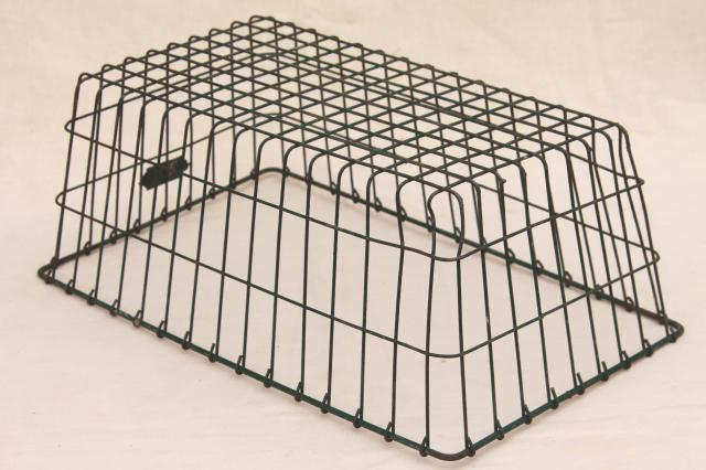 vintage industrial wire baskets