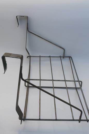 Vintage Wire Rack Hat Shelf Over The Door Hanging Coat