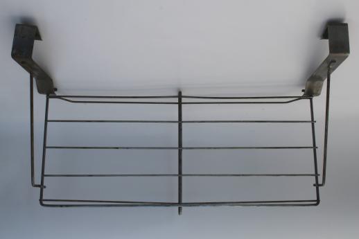 Amazing Vintage Industrial Wire Rack Hat Shelf, Over The Door Hanging Shelf Coat  Rack