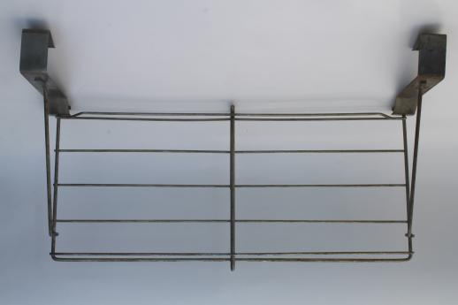 Vintage Industrial Wire Rack Hat Shelf Over The Door