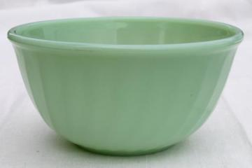 vintage jadeite glass, Fire-King jadite swirl mixing bowl 6