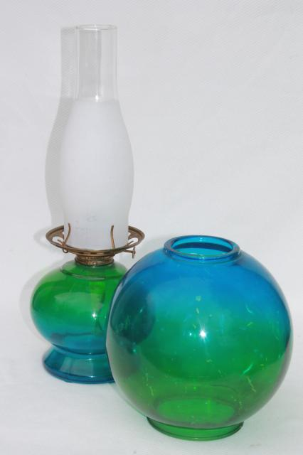 Vintage Kero Oil Lamp Gone With The Wind Parlor Lamp W