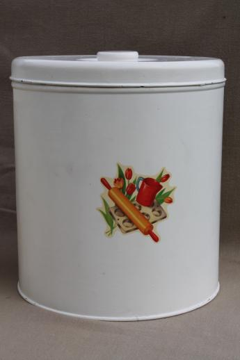 vintage kitchen canisters metal canister set tins w