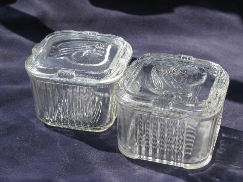 vintage kitchen glass fridge boxes for refrigerator storage
