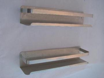vintage kitchen / pantry spice jar racks, retro 1950s mod aluminum