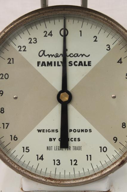 Vintage Kitchen Scale American Family 25 Lb Steel Platform Scale W