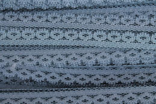 vintage lace edging sewing trim all in shades of blue, bulk yardage craft trims lot