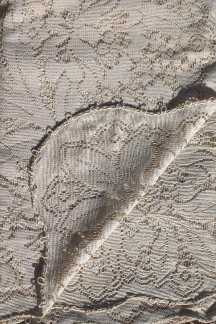 vintage lace tablecloth in original box, shabby cottage chic romantic bohemian style