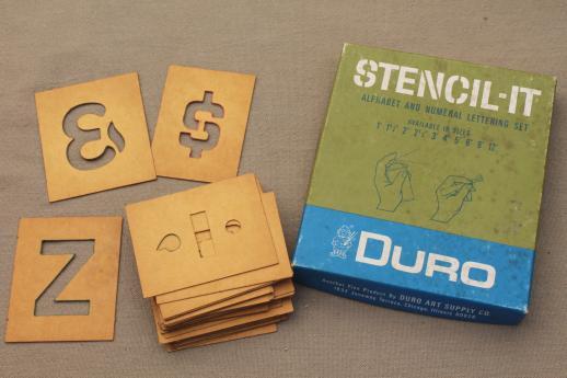 Vintage letter and number stencils duro cardstock alphabet vintage letter and number stencils duro cardstock alphabet numbering templates for signs spiritdancerdesigns Images