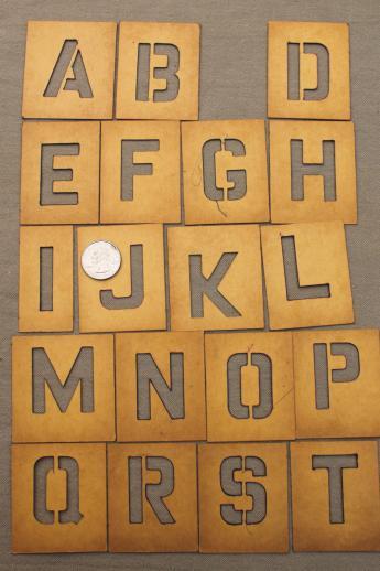 vintage letter and number stencils duro cardstock alphabet