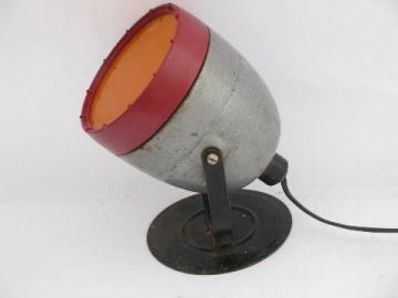 vintage machine-age Kodak Model A Safelight photo darkroom lamp