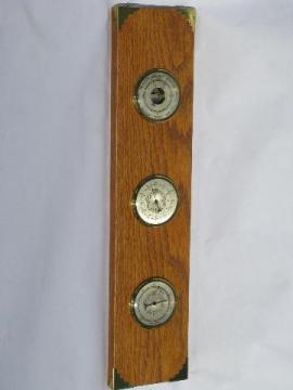 vintage made in France weather station w/ meteorolgical instruments, barometer etc.