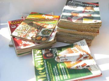vintage magazines lot, all holiday Christmas issues, recipes, crafts, great old ads