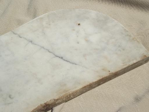 vintage marble shelf, antique french white marble stone top for wall shelf