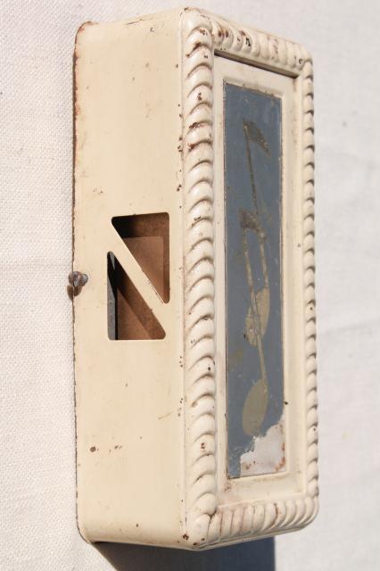 Vintage Mechanical Door Bell, Mid Century 2 Tone Chime For Shop Or Store  Door