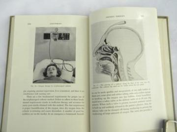 vintage medical book, anesthesia manual with photos and illustations