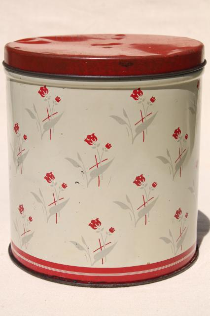 Box tin amp kitchen canisters retro fixer uppers to paint or upcycle
