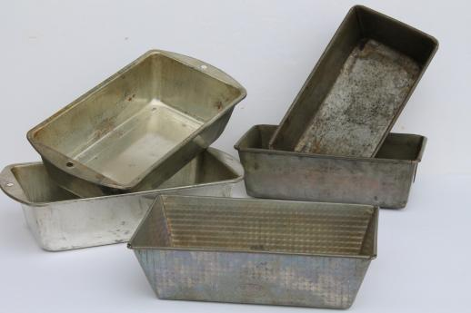 Vintage Metal Bread Pans Bake King Ovenex Loaf Pans