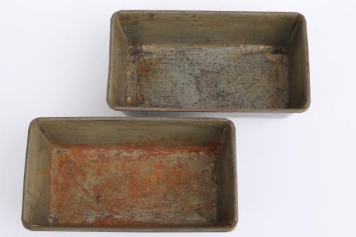 Vintage Metal Bread Pans Bake King Ovenex Loaf Pans