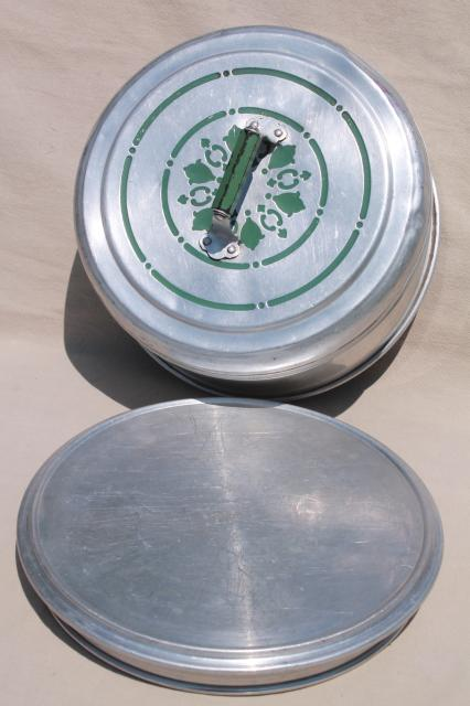 Vintage Metal Cake Pie Keeper Saver Cake Plate W Dome