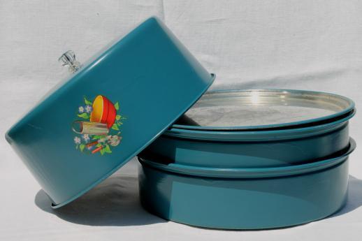 vintage metal cake saver plate \u0026 cover stacking cake \u0026 pie keeper w/ cute decal & vintage metal cake saver plate \u0026 cover stacking cake \u0026 pie keeper w ...