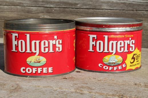 Metal Coffee Cans Coffee Drinker