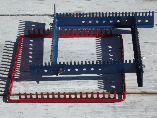 vintage metal looper looms, lap loom lot for loop woven pot holder squares