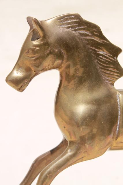 Vintage Metal Rocking Horses Solid Brass Rocking Horse