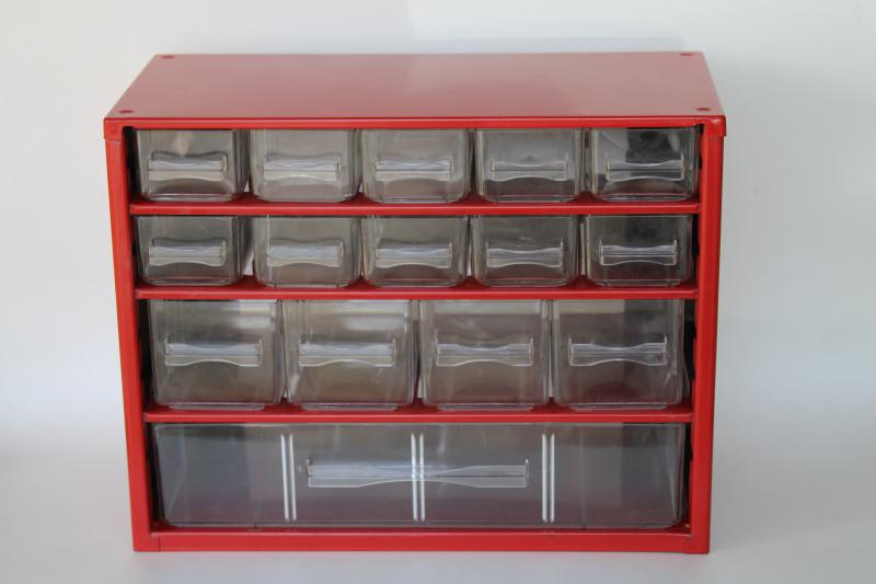 vintage metal storage cubby w/ mini drawers hardware parts bins, cabinet for craft supplies