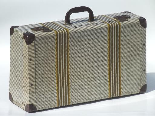 vintage metal suitcase, retro 1940s tin litho picnic box or ...