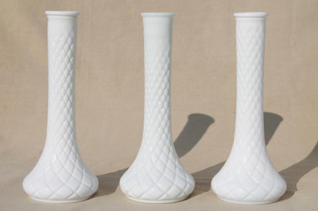 Vintage Milk Glass Bud Vases Huge Lot Of Florists Vases For Wedding