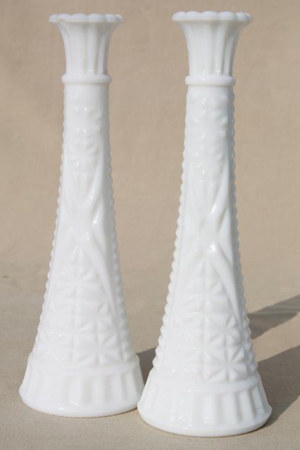 Vintage Milk Glass Bud Vases Huge Lot Of Florists Vases For Wedding