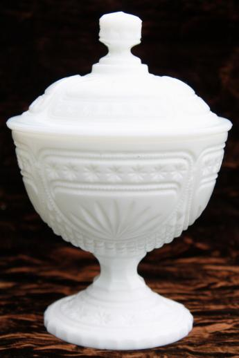 Vintage Milk Glass Covered Box Candy Dish Or Small