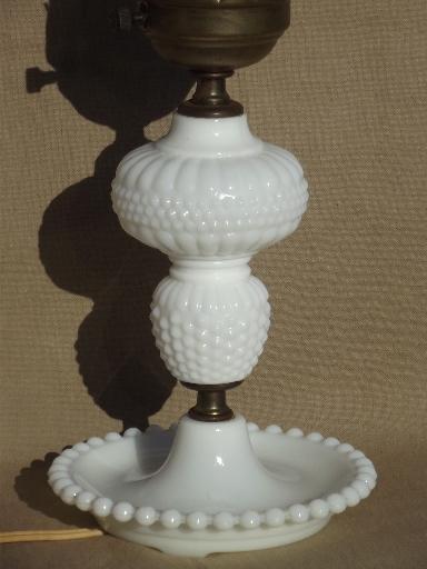 vintage milk glass lamps collection cottage style vintage