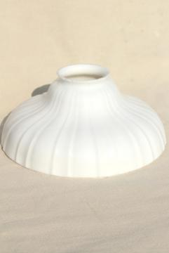 vintage milk glass lampshade or pendant light shade for industrial office or loft lighting