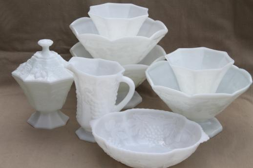 vintage milk glass dishes and glassware, Powerpoint templates