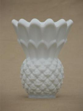 vintage milk glass pineapple vase or match holder, Imperial pineapple?