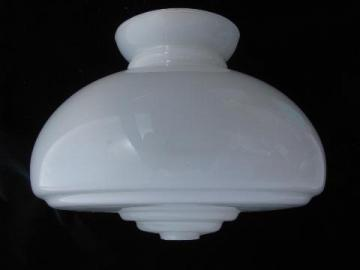 vintage milk glass student lamp shade, for schoolhouse or kitchen hanging light